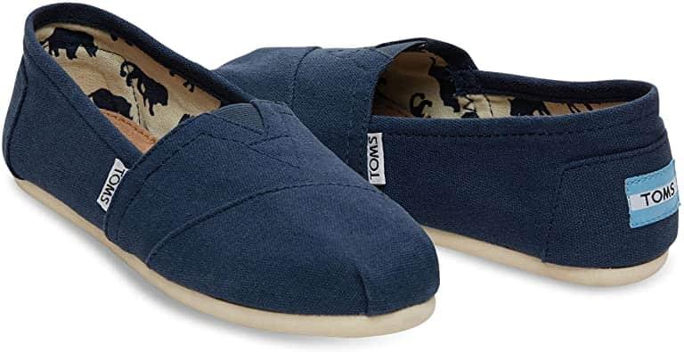 toms navy blue canvas mens salsa shoes